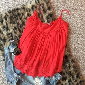 Summer Boho Red Tank Top